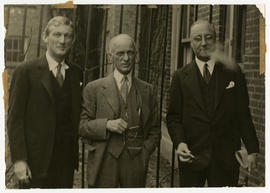 Group portrait of Elliott Cutler, Harvey Cushing, and Evarts A. Graham.