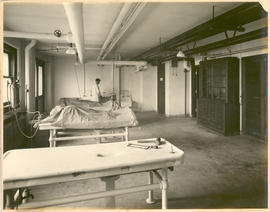 Unidentified man at work in the Embalming Room in the Washington University School of Medicine An...