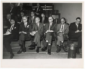 View of the audience at a Boston City Hospital Centennial and Thorndike Memorial Laboratory 40th ...