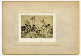 """Vaccination on Tour."" From a caricature, 1799."