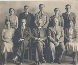 Group portrait of members of the Washington University School of Medicine Pathology Department, 1...