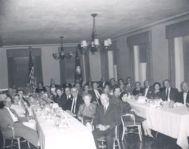 Group portrait of men and women at a Base Hospital 21 reunion.