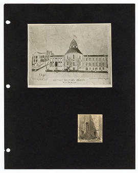 Drawing of Gratiot Military Prison, St. Louis, Missouri.