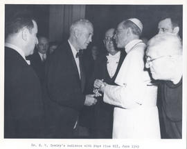 E.V. Cowdry meeting Pope Pius XII.